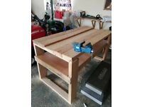 Working Bench with Vice and Clamps