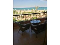 Chalet first row by the sea in al sokhna egypt