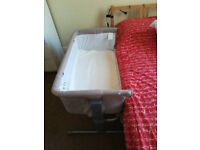 Chicco Next2me Side Sleeping Crib (Dove Grey) in great condition.