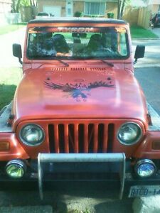 1997 tj jeep and large fish tank trade for a car