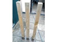 3 bolt down type posts