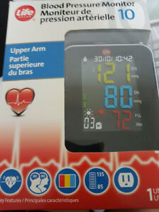 Life brand blood pressure monitor for the upper arm