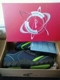 jack nano trainers, new in box with tags, unused, size 3.5 kids, colour blue