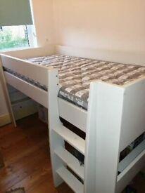 Kids midsleeper bed & mattress