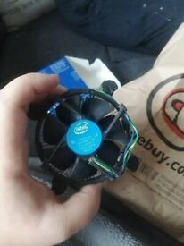 Intel i3 7th gen, and Intel cpu cooler