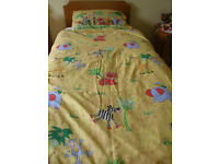 Child's Jungle duvet cover and pillowcase