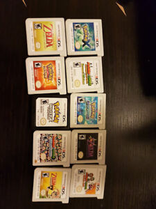 Ds and 3DS games, lightly used