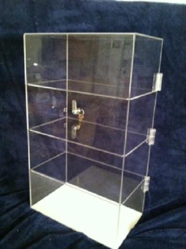 "Acrylic Counter Top Display Case 12"" x 6"" x 16.5""  Acrylic Locking Show Case"