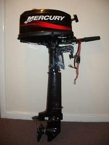 mercury 4 hp two stroke outboard with built in tank