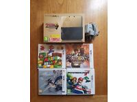 Nintendo 3DS XL limited edition Zelda console, great condition with 5 games