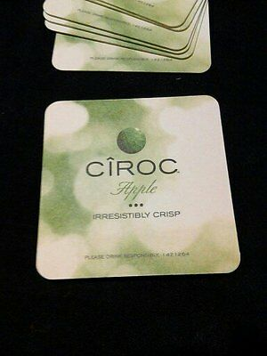CIROC BAR COASTER CARDBOARD LOT OF 200 NEW TWO SIDED