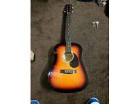 Martin Smith Sunburst Guitar for Beginners