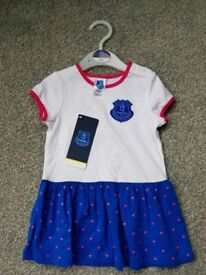 New Girls Everton dress and hoodie 6-9 months