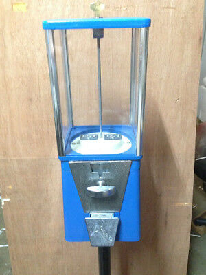One-way Oak Vista Candy Toy Gumball Vending Machine No Pipe Stand Olddirty