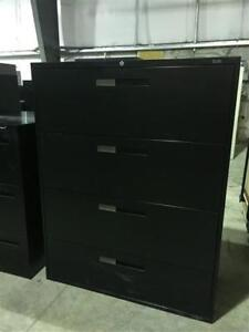 """42""""Wide Global Lateral Filing Cabinet - Black"""