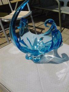 Chalet glass sculpture