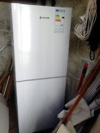 Hoover fridge freezer. Tall. 122litre fridge, 62litre freezer. White. 2yrs old.