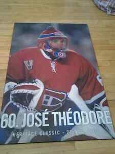 HABS MONTREAL CANADIENS JOSE THEODOR CARDBOARD PICTURE 92X61x1CM