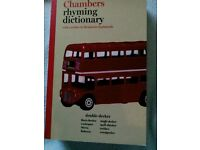Chambers rhyming dictionary - new SOLD