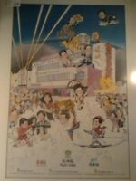 Rare Leslie Chan,Hong Kong Singer 1990s Autographed Large Poster
