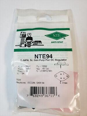 Nte94 Npn General Purpose Power Dc Regulator