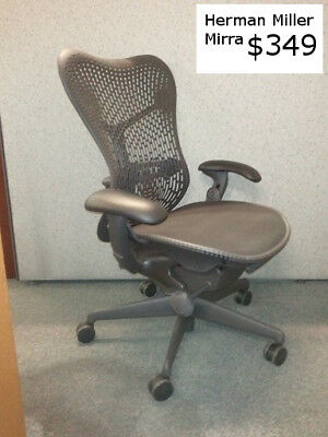 Herman Miller Mirra Office Chairs Hard Back Excellent - Rarely Used Condition