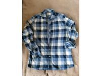 George navy check shirt medium