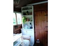 Wooden dresser painted white