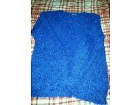 Bright blue jumper