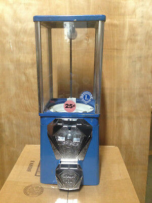Oak Vista Candy Toy Gumball Vending Machine With New Chrome Coin Mech And Door
