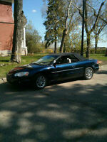 2004 Chrysler Sebring Black top Convertible