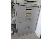 Triumph 4 drawer metal filing cabinet for home office storage