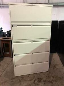 Teknion 5 Drawer Lateral Filing Cabinets - White - $325
