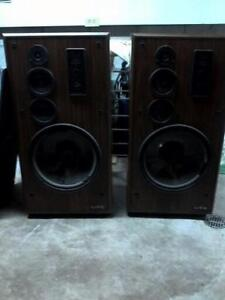 """infinity tower speakers. 15"""" subs. that need to replaced."""