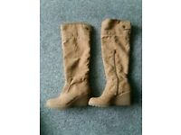 Graceland over knee wedge boots 5.5