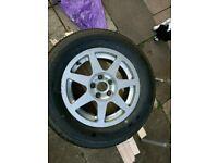 New tyre on rim