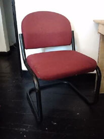 Red office chair - £5