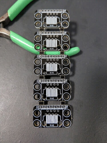 Black PCB Breakout Boards for RJ45 Connectors (assembly required)