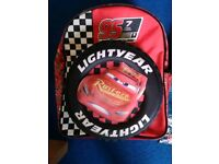 Lightening McQueen backpack and swim bag