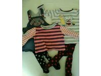 2 baby girl 6-9 month outfits - dresses with tights