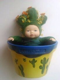 Anne Geddes 'Down in the Garden' Flower Pot Baby Cactus
