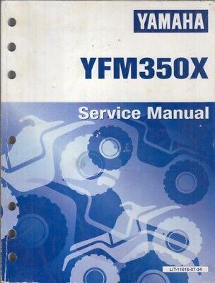 YAMAHA YFM350X ATV QUAD BIKE ORIGINAL 1989 FACTORY SERVICE MANUAL