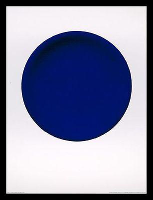 Yves Klein Disque bleu IKB 54 Poster Bild Kunstdruck & Alurahmen schwarz 80x60cm
