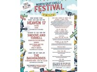 4 x Tickets for Chilli Festival North East - Friday Night 30th June 2017 - Heaven 17