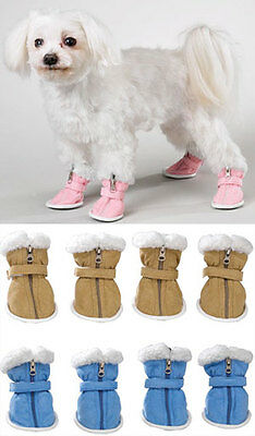 SNUGGLY FAUX SUEDE COZY DOG BOOTS - CLEARANCE  ()