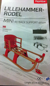 hamax lillehammer holzschlitten mit lehne schlitten. Black Bedroom Furniture Sets. Home Design Ideas