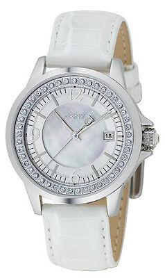 DKNY LADIES COLLECTION LUXURY DRESS STYLE WHITE WATCH NY4469