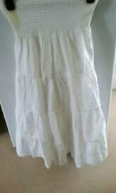 Girls long white skirt.