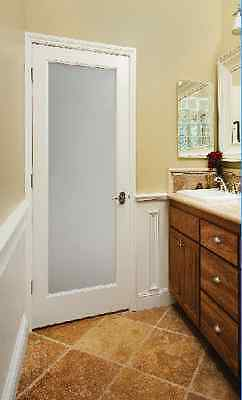 Privacy Frit Frosted Obscure Glass Decorative French Doors 8 Solid Wood Types