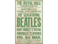 Beatles Royal Hall Harrogate Concert Poster 8th March 1963